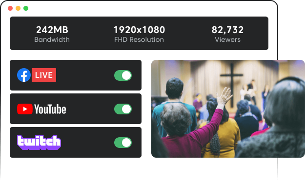 Multistream your sermons on all platforms